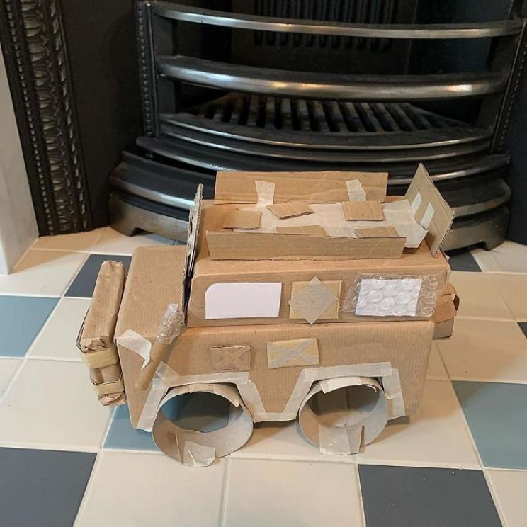 Mom Makes Cardboard Household Items to Teach Her Kids Life Skills