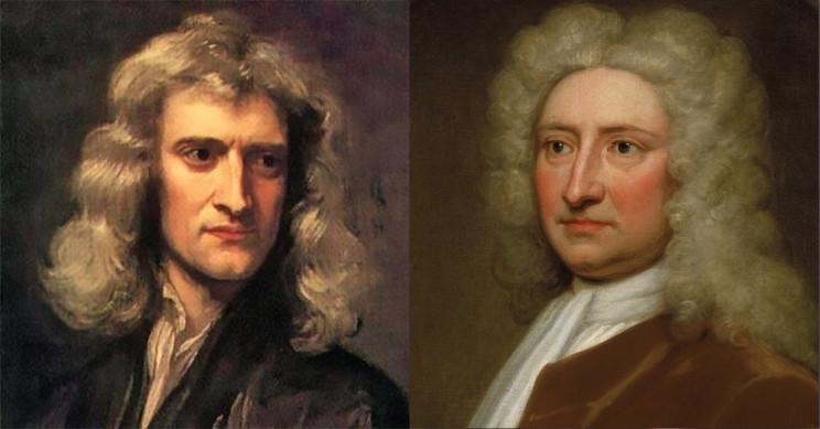Isaac Newton And Edmond Halley
