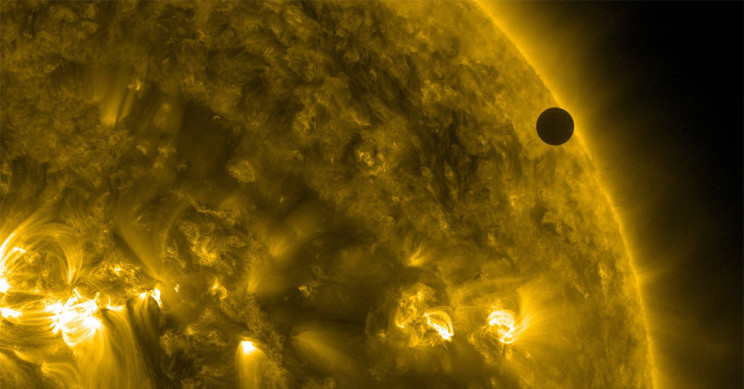 Venus transiting the Sun in 2012
