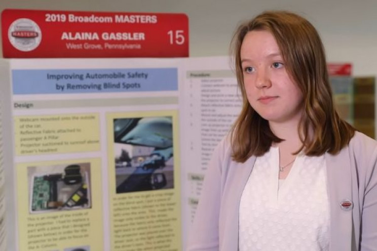 14 Year Old Pennsylvania Girl Finds Solution For Blind Spots In Cars
