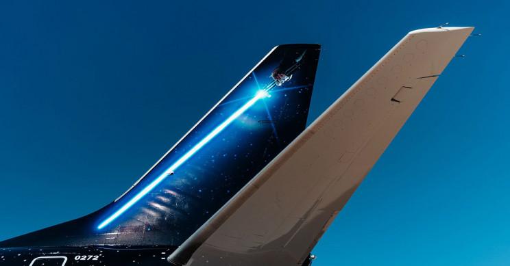 United Star War's plane exterior.