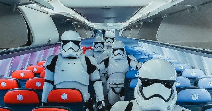 Stormtroopers on the United plane.