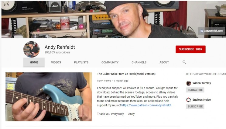 Andy Rehfeldt YouTube