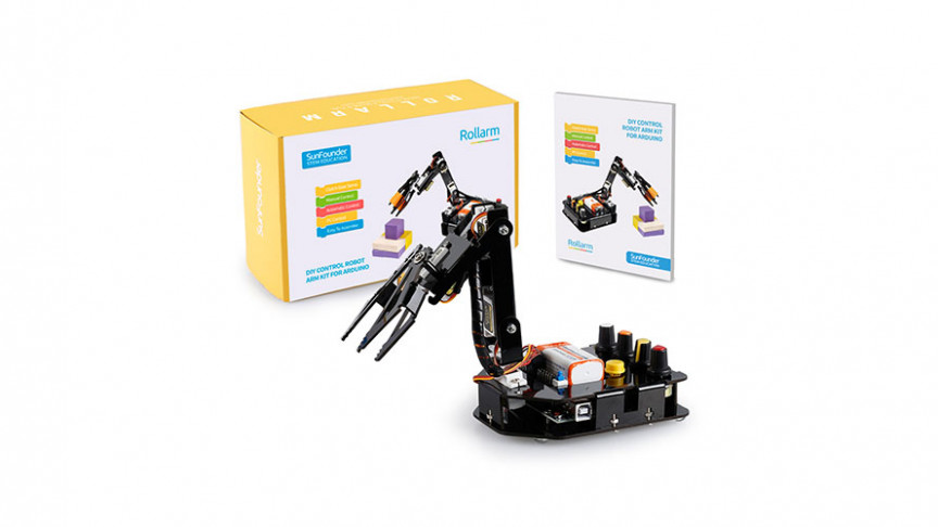 Build a Fully-Functional Robotic ARM with This Arduino Kit