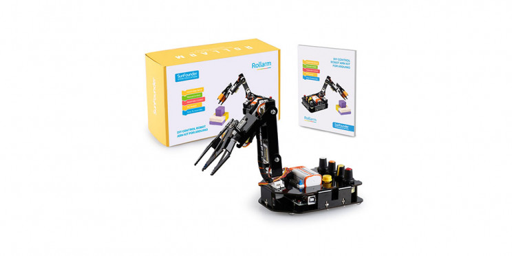 Take your Arduino projects to the next level with this SunFounder Robotic Arm Edge Kit for Arduino for just $5