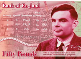 Computer Scientist Alan Turing Will Appear on the New Bank of England £50 Note