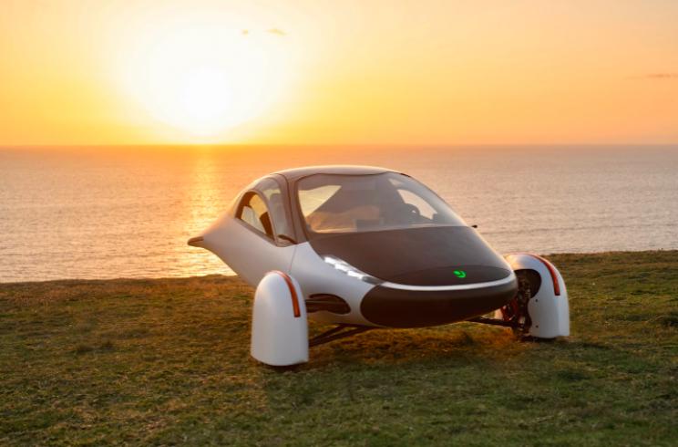 Meet Sol: Aptera's Three-Wheeled Solar-Powered EV in White