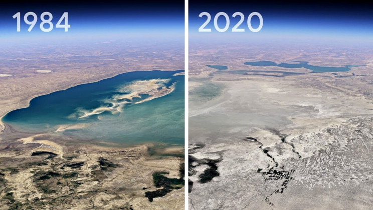 Google Earth Shows The Effects of Nearly 40 Years of Climate Change