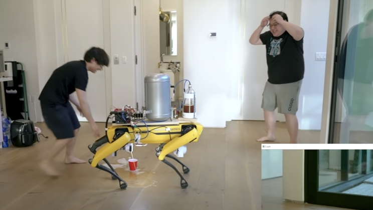 Someone Taught Boston Dynamics' Spot Robot How to Pee Beer