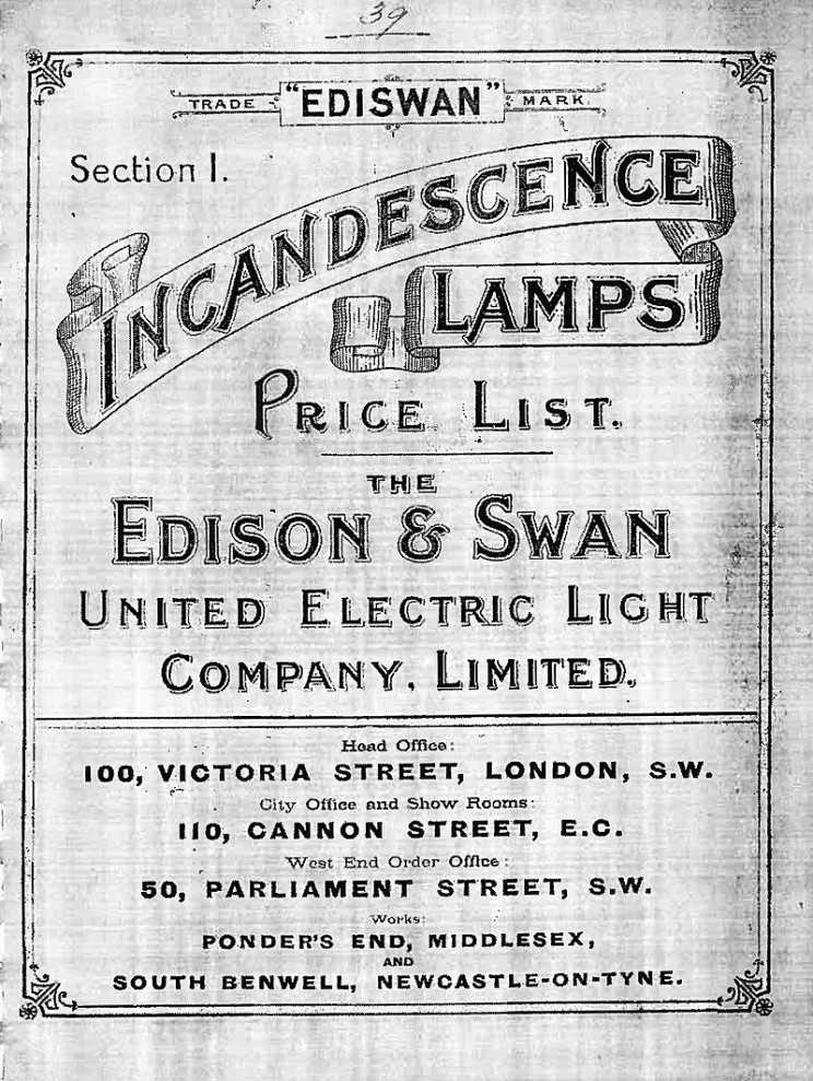oldest light bulb ediswan