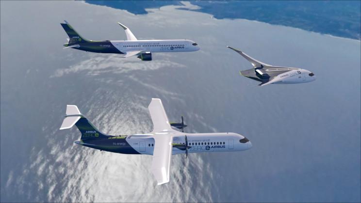 Airbus ZEROe hydrogen powered concept planes