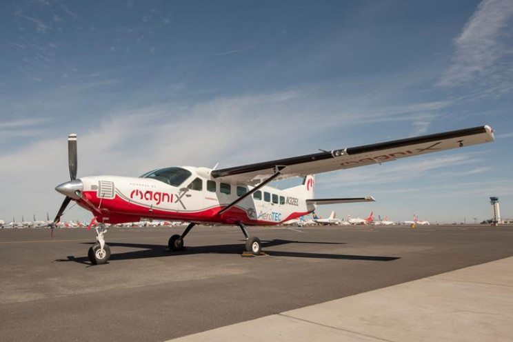 The Magni500-powered Cessna Grand Caravan on the ground on 28 May 2020, the day of its maiden flight, from Moses Lake.