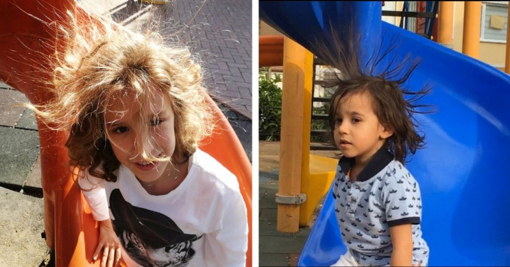 Parents Share Funny Photos, Complain About Static Electricity in Children's Parks