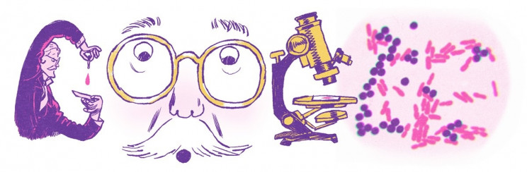 Google Celebrates Microbiologist Hans Christian Gram in New Google Doodle