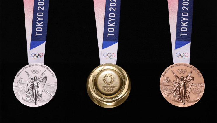 2020 Summer Olympic Medals Made Out of Recycled Consumer Electronics