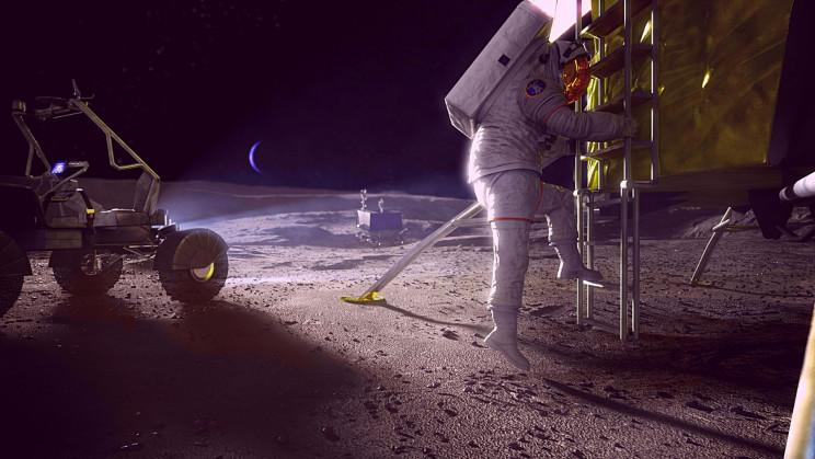 SpaceX and Blue Origin Just Won $35 Million for NASA's Artemis Moon Landings