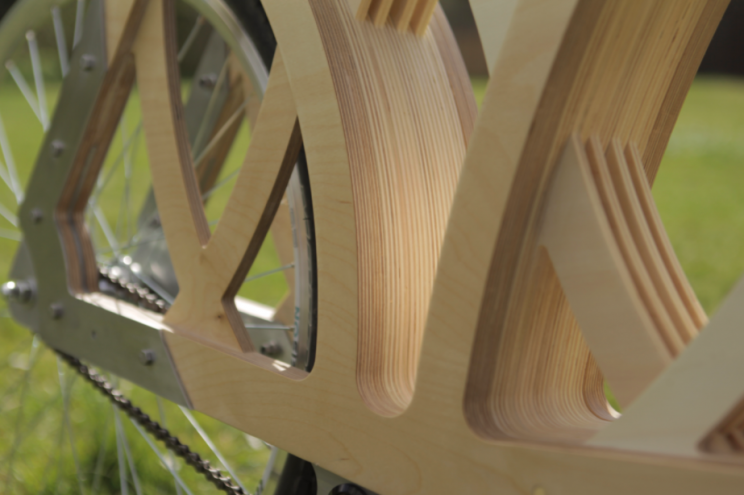 Contemporary Designer Builds Scrambler E-Bike Out of Wood