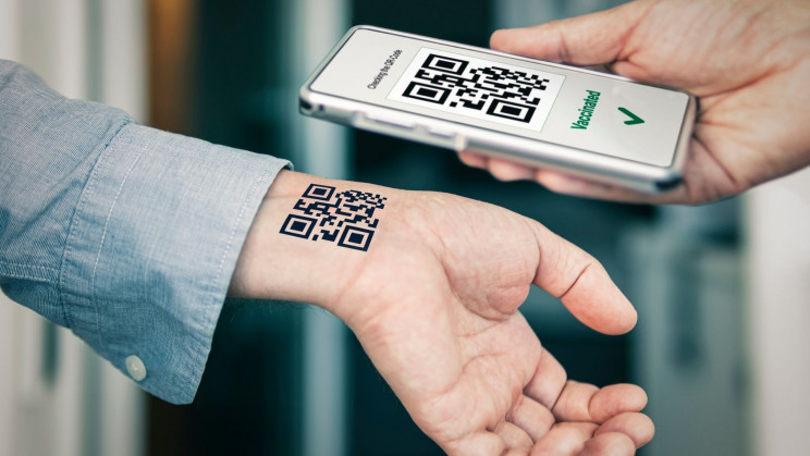 Mystery Guy Gets a Tattoo of a QR Code Proving His Vaccination Status