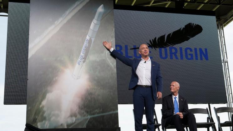Jeff Bezos Headed to Space In Blue Origin's First Crewed Spaceflight