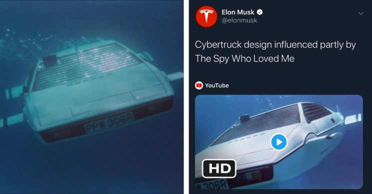 6 Pop Culture Inspirations for Tesla's Shiny New Cybertruck