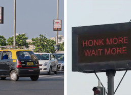 Brilliant Mumbai Police Test New Traffic Lights That Stay Red Longer When Drivers Honk