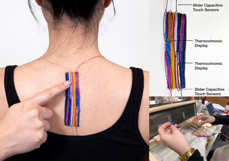 On-Skin Wearable Technology Combined With Traditional Weaving