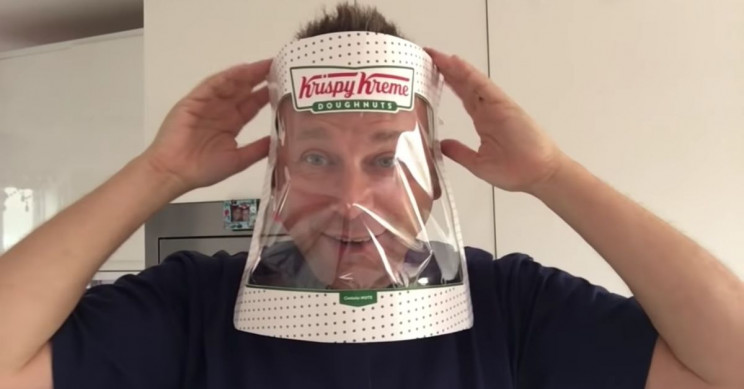 Making a Face Shield Out of a Krispy Kreme Box