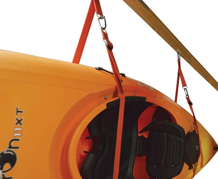 garage organizing kayak