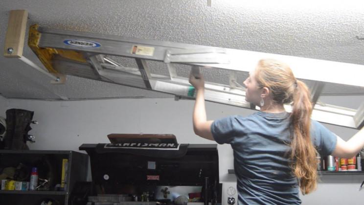 genius garage organization ideas ladders