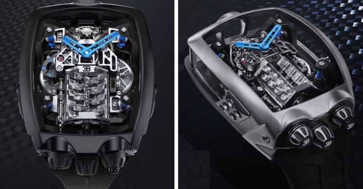 Astonishing Bugatti Watch Operates with a Mini W16 Engine and Costs $280,000