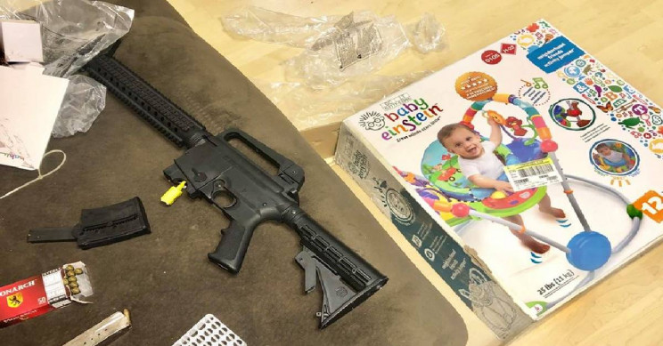 Woman Finds Semi-Automatic Rifle Inside Goodwill Baby Bouncer Box