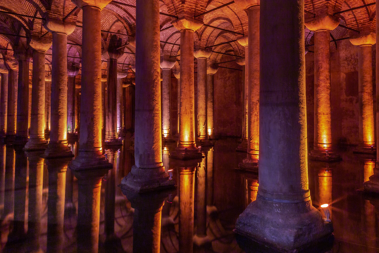 Expansive Basilica Cistern Built From Salvaged Ruins