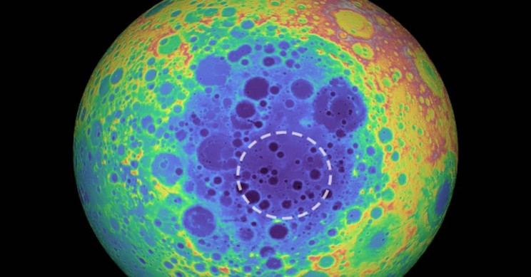 Mysterious Mass Discovered under Moon's Largest Crater