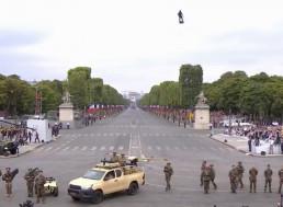 French Inventor Impressively Hovers over Bastille Day Parade on Flyboard