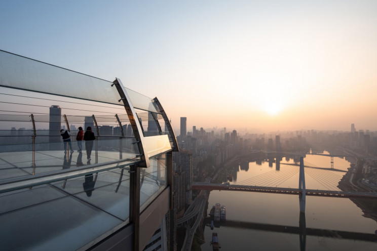 World's Highest Horizontal Skyscraper at 250 Meters Opens in China