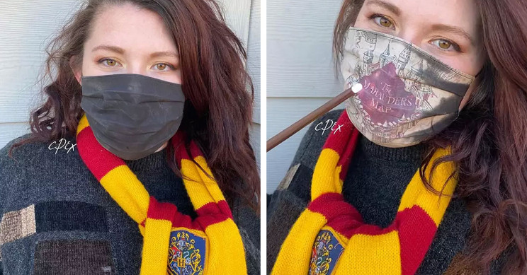 This 'Magical' Harry Potter Mask Reveals Marauder's Map When You Breathe