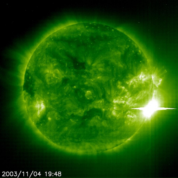 solar storms 2003