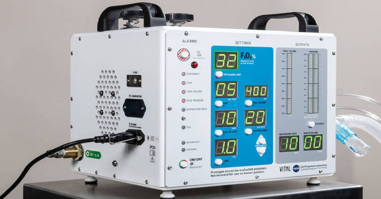 New Super-Efficient High-Pressure COVID-19 Ventilator Developed by NASA in Just 37 Days