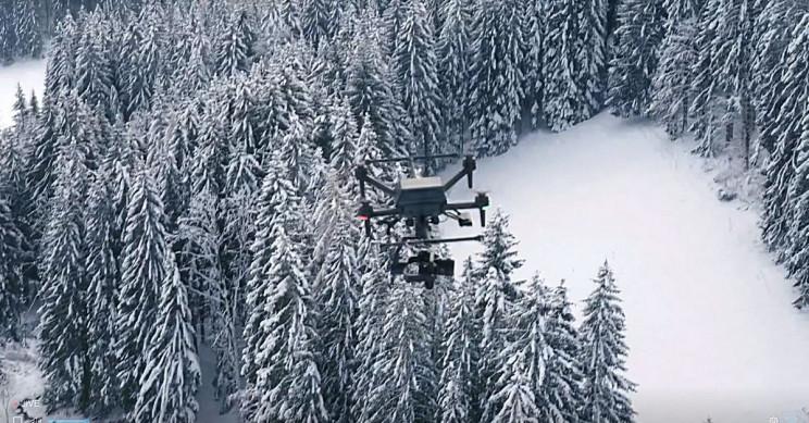 Sony Airpeak Snowy Forest