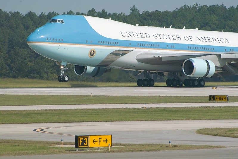 Air Force One taxiing