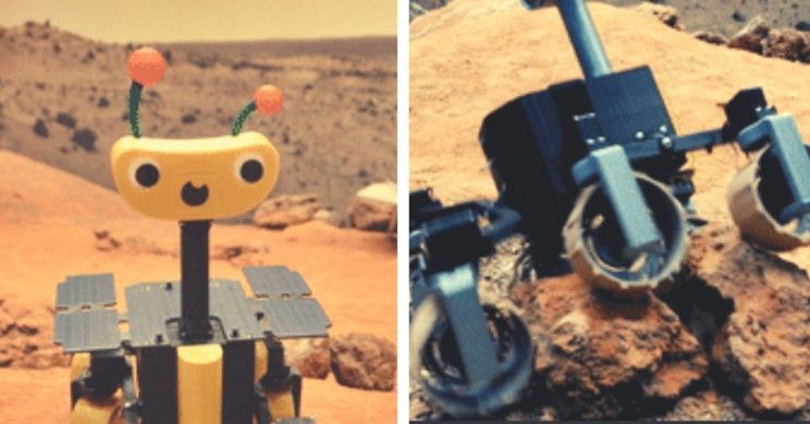 3D Printed Mars Rover Smiles to Cartoonish Proportions, Uses Raspberry Pi