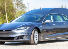 A Tesla Model S Has Been Rebuilt as a Hearse and Costs over $200,000