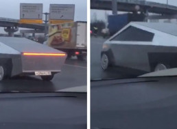 Replica Cybertruck Caught on Camera in Moscow