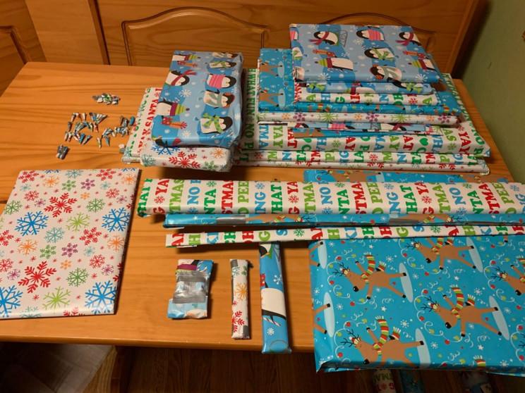 geometry skills Christmas wrapping