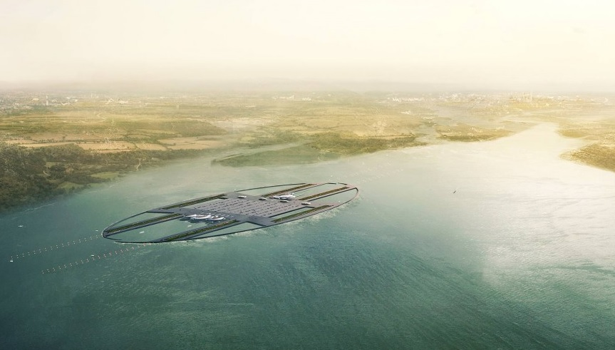 futuristic airports London Britannia