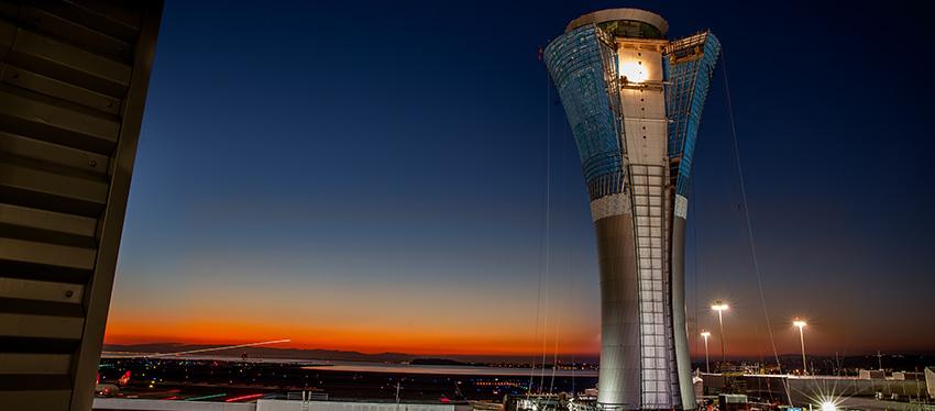 futuristic airport design SFO FAA