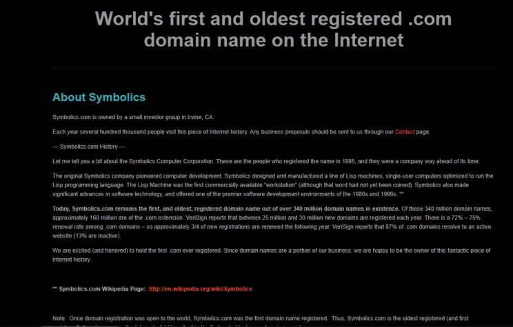 history of the web first website
