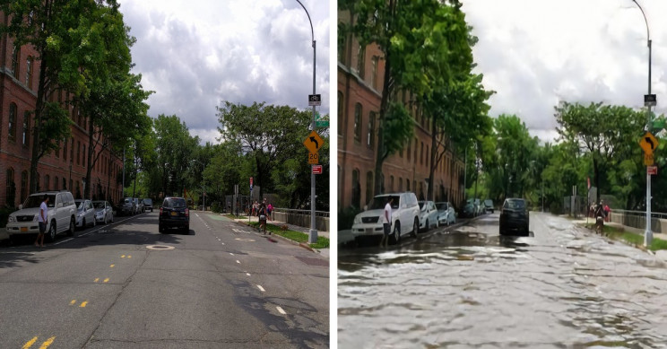 AI Used to Show You What Your Climate Change-Stricken Neighborhood Will Look Like