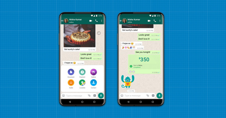 WhatsApp takes on Google, Alibaba in India's phone payment battle