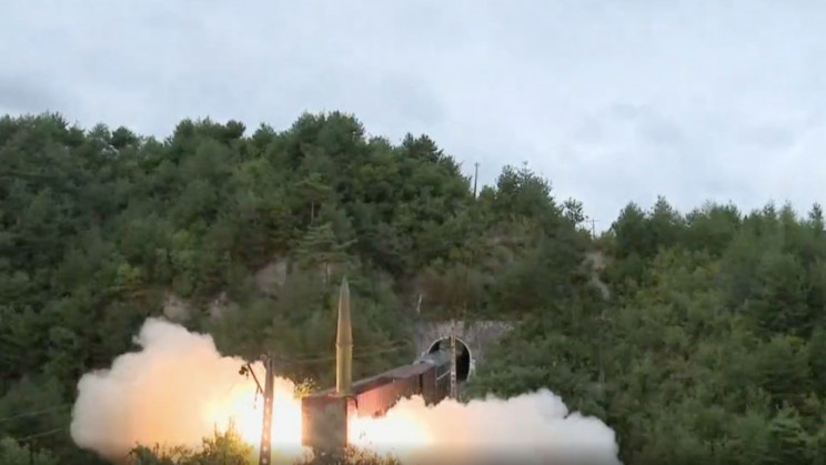 Watch North Korea Launch Ballistic Missiles From Trains